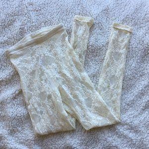NWT American Apparel lace legging tights